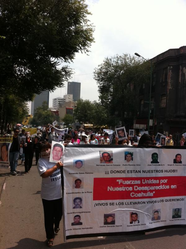 Marcha por los desaparecidos y visita a la SEGOB Julio 2011