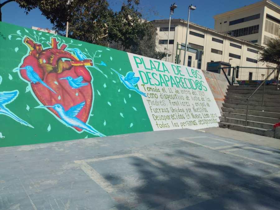 Plaza por los desaparecidos en Nuevo León.